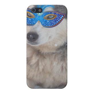 Iphoneの場合4/4のハスキーな青い目の謝肉祭のマスク iPhone 5 ケース