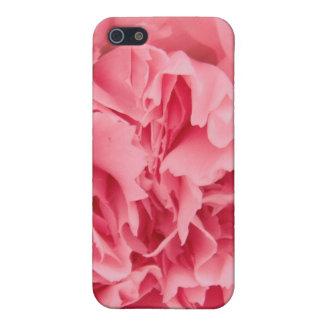 Iphoneの場合4/4のピンクのカーネーションの終わり iPhone 5 カバー