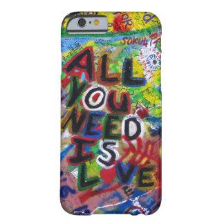 iPhoneの場合-あなたが必要とするすべて愛はあります-落書き Barely There iPhone 6 ケース