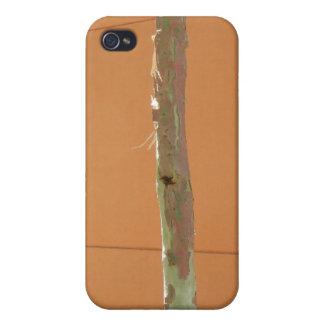 iPhoneの場合-オレンジ壁に対する若い木 iPhone 4 ケース