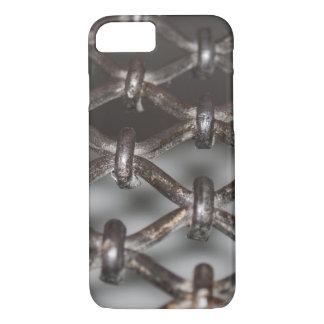 iPhoneの場合、格子鉄 iPhone 7ケース