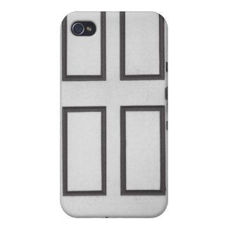 iPhoneの場合-白いドアの黒猫 iPhone 4/4S カバー