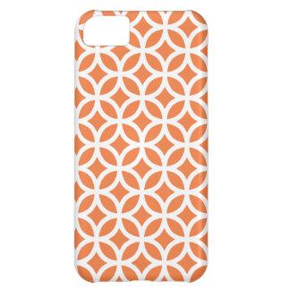 iPhoneの場合\ Celosiaのオレンジ幾何学的 iPhone5Cケース