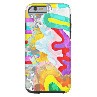 Iphoneの抽象的な波状の芸術カバー ケース