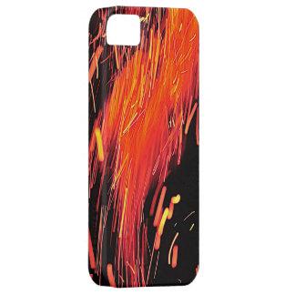 Iphoneの燃えるようで熱い場合 iPhone SE/5/5s ケース