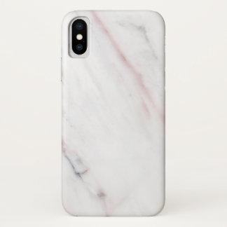 Iphoneの白く、ピンクの大理石の箱 iPhone X ケース