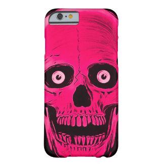 iPhoneのSkullyのスカルの恐怖ピンクのスカルの箱 Barely There iPhone 6 ケース