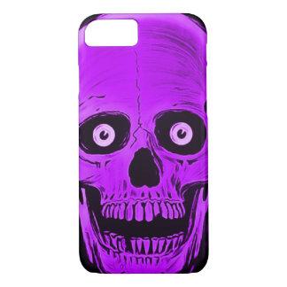 iPhoneのSkullyのスカルの恐怖紫色のスカルの箱 iPhone 8/7ケース