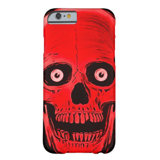 iPhoneのSkullyのスカルの恐怖赤いスカルの箱 Barely There iPhone 6 ケース