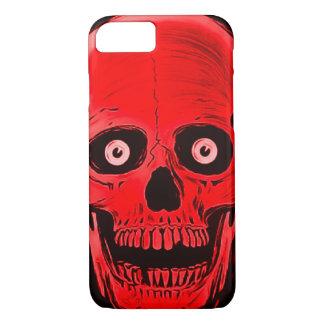 iPhoneのSkullyのスカルの恐怖赤いスカルの箱 iPhone 8/7ケース