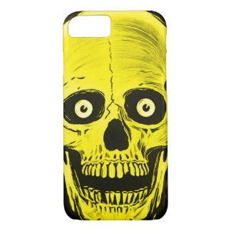 iPhoneのSkullyのスカルの恐怖金スカルの箱 iPhone 8/7ケース