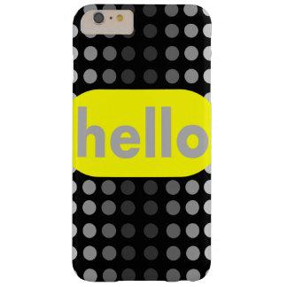 iPhoneは灰色の点の6つのプラスの場合の陰設計します Barely There iPhone 6 Plus ケース
