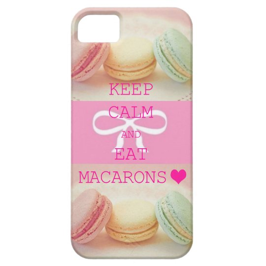 【iPhoneケース】マカロン★KEEP CALM AND EAT MACARONS iPhone SE/5/5s ケース
