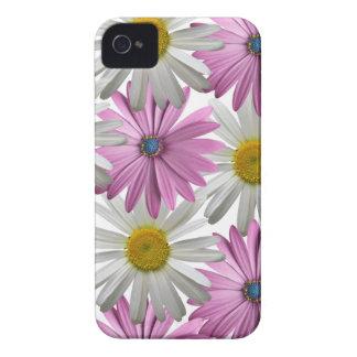 Iphoneピンクまたは白く敏感な花の4Sの箱 Case-Mate iPhone 4 ケース