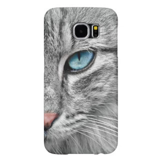 iphone及びSamsung.のためのキャッツ・アイの携帯電話の箱 Samsung Galaxy S6 ケース