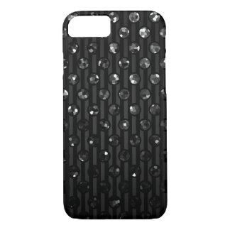 iPhone場合の黒いSparkleyの7つの宝石 iPhone 7ケース