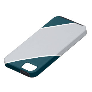 IPhone緑および銀ストライプのな5の箱 iPhone SE/5/5s ケース
