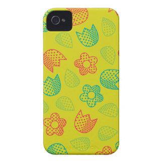 iPhone4穹窖の箱の破裂音の馬蝿の幼虫のDitsyの黄色 Case-Mate iPhone 4 ケース