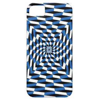 iphone5場合の目の錯覚の難題の青 iPhone SE/5/5s ケース
