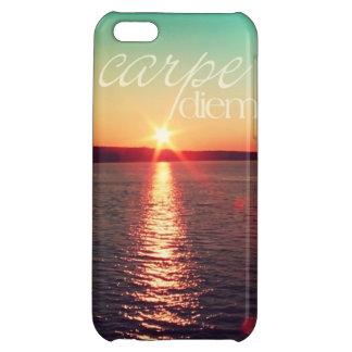 iphone5場合-タイポグラフィのCarpeのdiemの日没 iPhone5Cケース