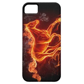 IPHONE5火の馬の例カバー iPhone SE/5/5s ケース