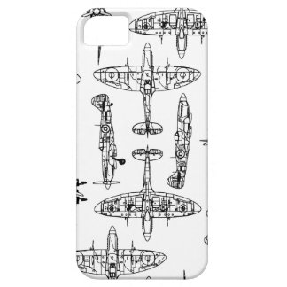 iphone5短気者の軍の空軍歴史の飛行機 iPhone 5 ベアリーゼアケース