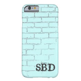 IPhone6ケースの貝の水の煉瓦イニシャル Barely There iPhone 6 ケース