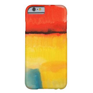 iPhone6ケースを絵を描くモダンで赤い黄色の抽象芸術 Barely There iPhone 6 ケース