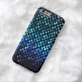 iPhone6ケース細く青い水晶きらきら光るなStrass Barely There iPhone 6 ケース