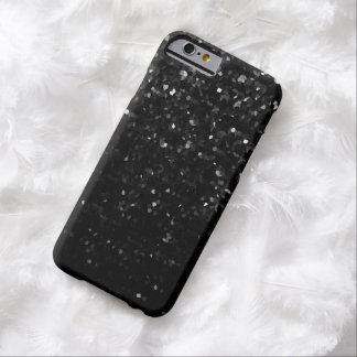 iPhone6ケース細く黒い水晶きらきら光るなStrass Barely There iPhone 6 ケース