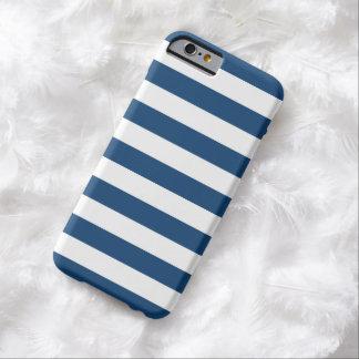 iPhone6ケース-モナコの青いはっきりした縞で飾ります Barely There iPhone 6 ケース