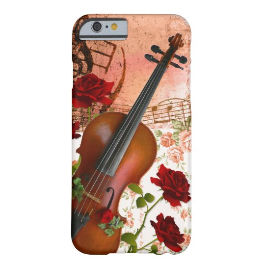 iphone6/6Sケース ヴァイオリン 薔薇 violin Barely There iPhone 6 ケース