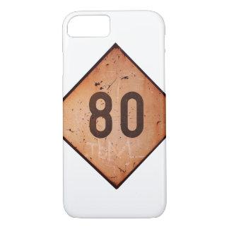 iPhone: ヴィンテージの鉄道80速度の列車の印 iPhone 8/7ケース