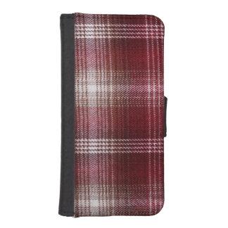 iPhone: 樵の織物パターンを点検して下さい iPhoneSE/5/5sウォレットケース