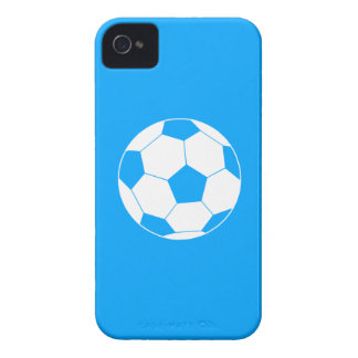 iPhone 4のサッカーボールのシルエットの青 Case-Mate iPhone 4 ケース