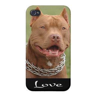 iPhone 4のピットブルの小犬の例カバー iPhone 4/4S カバー