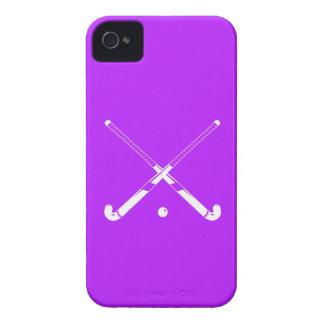 iPhone 4のフィールドホッケーのシルエットの紫色 Case-Mate iPhone 4 ケース