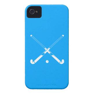 iPhone 4のフィールドホッケーのシルエットの青 Case-Mate iPhone 4 ケース