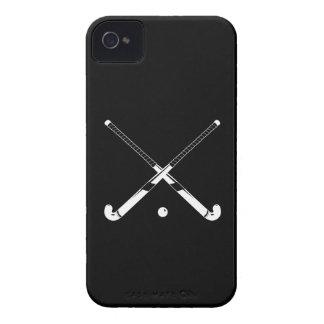iPhone 4のフィールドホッケーのシルエットの黒 Case-Mate iPhone 4 ケース