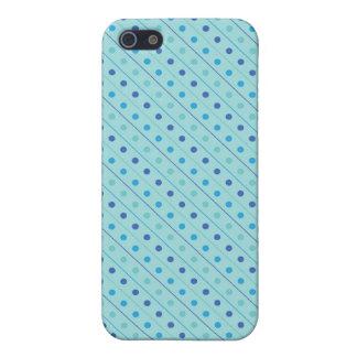 iPhone 4のSpeckの場合の熱い水玉模様の青 iPhone 5 カバー