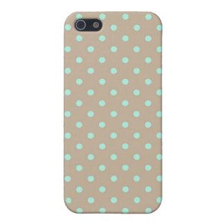 iPhone 4のSpeckの場合の熱い水玉模様緑およびベージュ色 iPhone 5 Cover