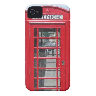 iPhone 4: クラシックで赤い電話ボックスの写真 Case-Mate iPhone 4 ケース