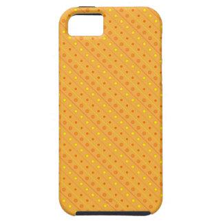 iPhone 5つの場合の熱いオレンジおよび黄色の水玉模様 iPhone SE/5/5s ケース