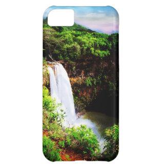 iPhone 5のための熱帯滝の自然の場合 iPhone5Cケース