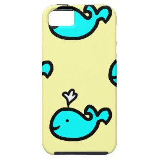 IPhone 5のための黄色およびシロナガスクジラの例 iPhone SE/5/5s ケース