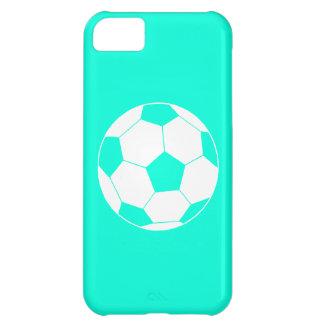 iPhone 5のサッカーボールのシルエットのターコイズ iPhone5Cケース