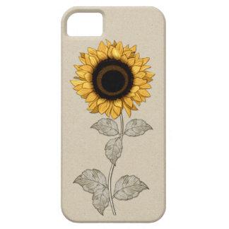 iPhone 5のヴィンテージのイエロー・ゴールドのヒマワリ iPhone SE/5/5s ケース