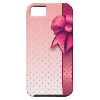 iPhone 5の場合のピンクの弓 iPhone SE/5/5s ケース