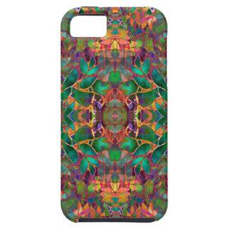 iPhone 5の場合のフラクタルの花柄の抽象芸術 iPhone SE/5/5s ケース