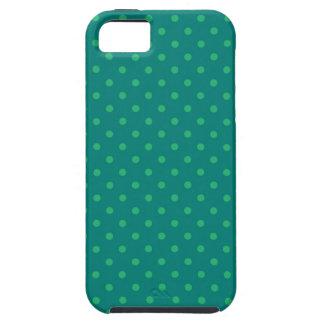 iPhone 5の場合の熱い緑の水玉模様 iPhone SE/5/5s ケース